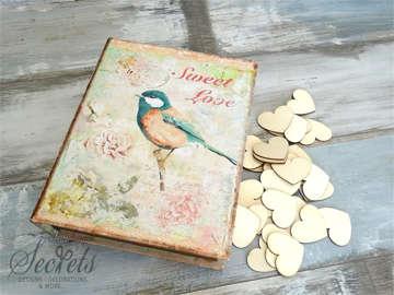 Εικόνα του Ξύλινο κουτί ευχών πουλάκι
