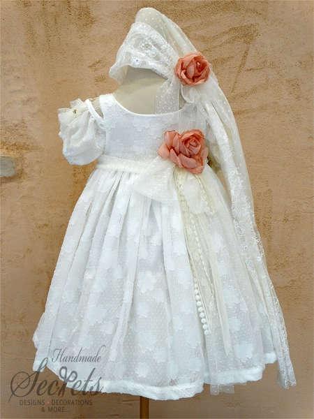 Εικόνα με Βαπτιστικό φόρεμα Bambolino 8336