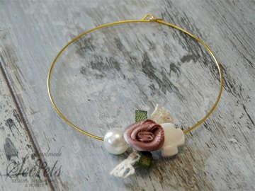 Εικόνα του Μαρτυρικό βραχιόλι λουλούδι πέρλα