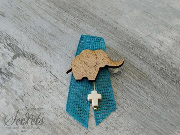 Εικόνα με Μαρτυρικό πέτου ξύλινο ελεφαντάκι
