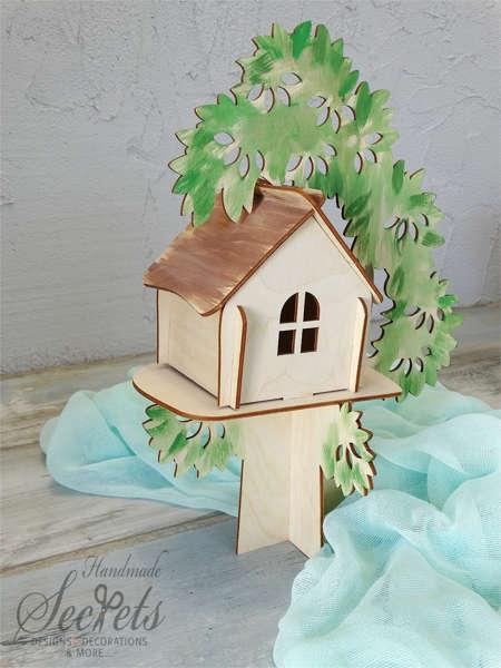 Εικόνα με Διακοσμητικό βάπτισης ξύλινο σπίτι