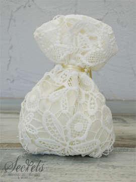 Εικόνα του Μπομπονιέρα γάμου δαντέλα πουγκί