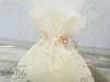 Εικόνα με Μπομπονιέρα γάμου πουγκί δαντέλα λουλούδι
