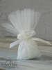 Εικόνα με Μπομπονιέρα γάμου πουγκί δαντέλα