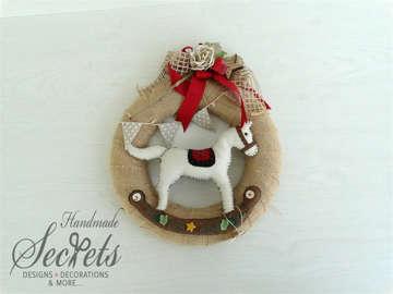 Εικόνα του Χριστουγεννιάτικο διακοσμητικό στεφάνι