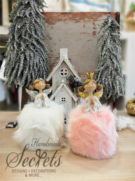 Εικόνα με Χριστουγεννιάτικο διακοσμητικό αγγελάκι μικρό