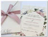 Εικόνα με Προσκλητήριο γάμου φλοράλ γεωμετρικό