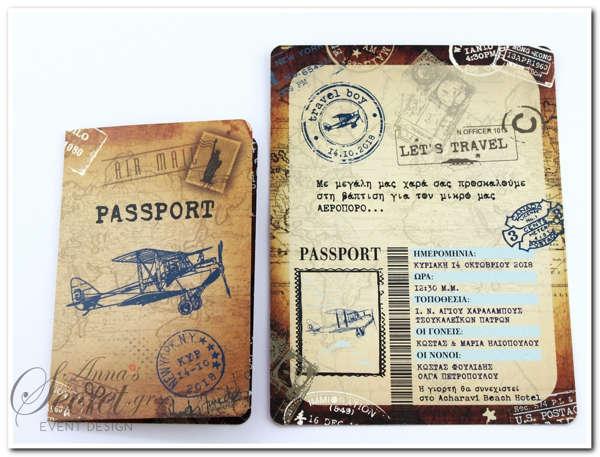 Εικόνα με Προσκλητήριο βάπτισης Passport