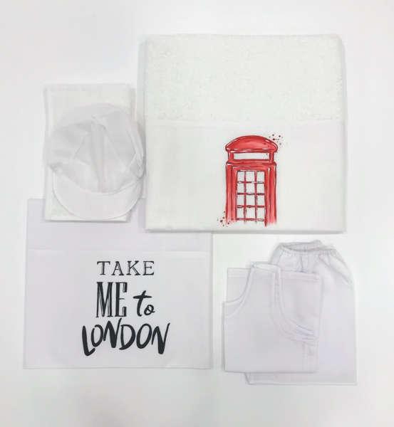 Εικόνα με TAKE ME TO LONDON λαδόπανα αγόρι