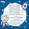 Εικόνα με Προσκλητήριο βάπτισης αστροναύτης