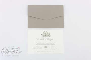 Εικόνα του Προσκλητήριο γάμου τριαντάφυλλο