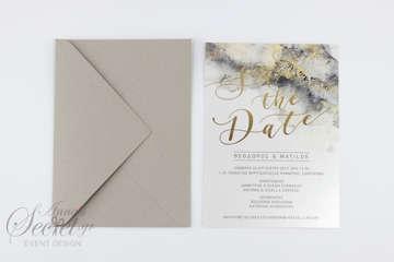 Εικόνα του Προσκλητήριο γάμου Save the Date