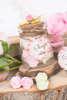 Εικόνα με Μπομπονιέρα βαζάκι ροζ λουλούδια