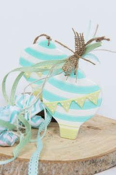 Εικόνα του Μπομπονιέρα σαπουνάκι αερόστατο