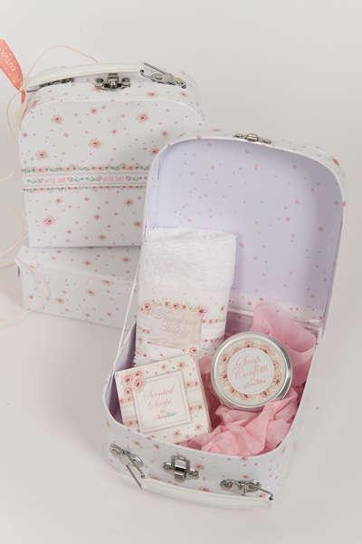 Εικόνα με Μπομπονιέρα σετ καλλυντικών παχύφυτα ροζ