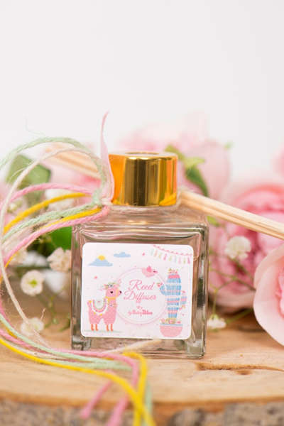 Εικόνα με Μπομπονιέρα αρωματικό COCONUT ροζ λάμα