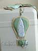 βαπτιστικό πακέτο με θέμα το αερόστατο, λαμπάδα με αερόστατο