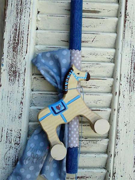 Εικόνα με Λαμπάδα πασχαλινή αλογάκι