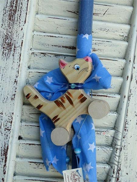 Εικόνα με Λαμπάδα πασχαλινή γατάκι