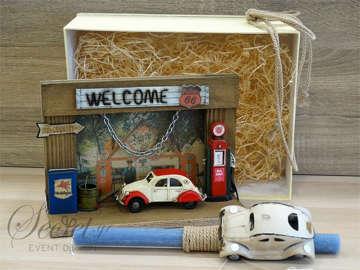 Εικόνα του Λαμπάδα πασχαλινή καδράκι αυτοκίνητο
