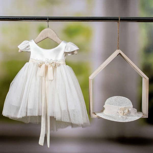 Εικόνα με Βαπτιστικό φόρεμα Bambolino Doukissa 8767
