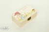 μπομπονιέρα βάπτισης ξύλινο κουτάκι για κορίτσια σε θέμα vintage με όνομα