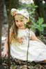Φόρεμα μεσάτο με ιδιαίτερο σχήμα στα μανίκια και χειροποίητο ντεκόρ