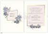 Εικόνα με Προσκλητήριο γάμου μπλε φύλλα.
