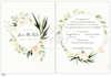 Εικόνα με Προσκλητήριο γάμου ρομαντικό στεφάνι λουλουδιών