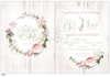 Εικόνα με Προσκλητήριο γάμου τριαντάφυλλο σε ξύλο.