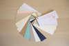 Εικόνα με Προσκλητήριο γάμου γραμμές τετραδίου με μπλε φύλλα