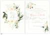 Εικόνα με Προσκλητήριο γάμου με λουλούδια μίνιμαλ.