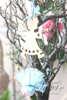 Μπομπονιέρες Χριστουγεννιάτικες χειροποίητες για γάμο ή βάπτιση, κρεμαστά στολιδια ξύλινα αγγελάκια.