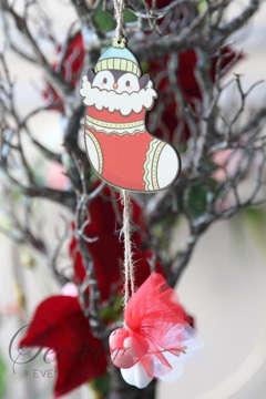Μπομπονιέρα χειροποίητο κρεμαστό Χριστουγεννιάτικο στολίδι πιγκουίνος.