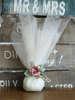 μπομπονιέρα γάμου με διακοσμητικό τριαντάφυλλο