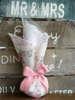 Εικόνα με Μπομπονιέρα γάμου πουγκί φλοραλ