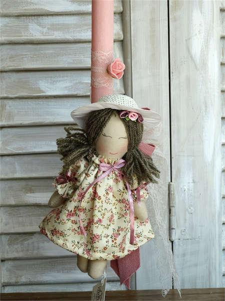 Εικόνα με Πασχαλινή λαμπάδα κούκλα floral