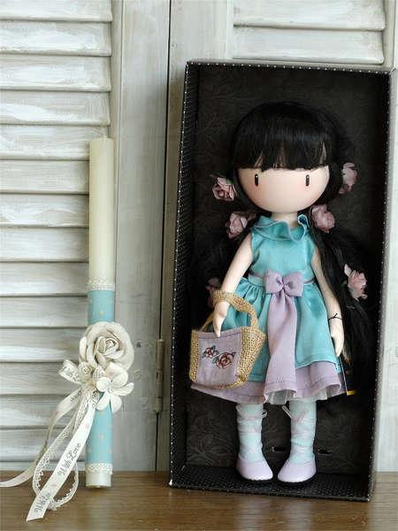 Πασχαλινή λαμπάδα για κορίτσια με Κουκλίτσα Santoro