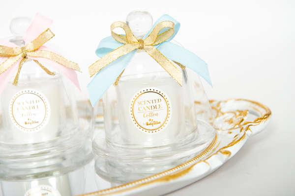 Εικόνα με Μπομπονιέρα Κερί καμπάνα Cotton