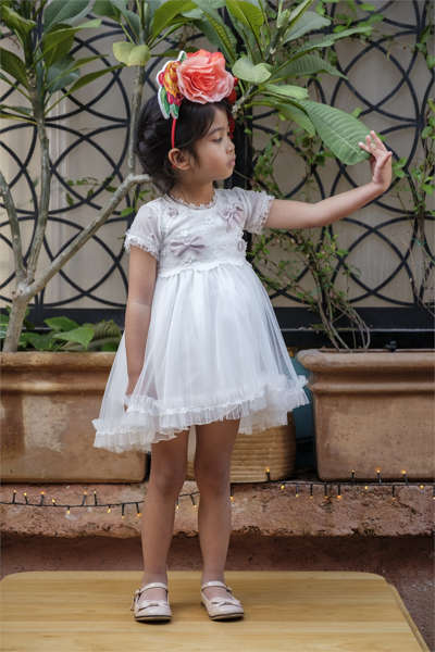 Εικόνα με Βαπτιστικό φόρεμα Bambolino Iliana 9123