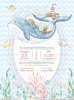 Εικόνα με Προσκλητήριο βάπτισης SAIL WHALE