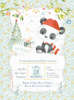 Βαπτιστικά προσκλητήρια loveclip για αγόρι Χριστουγεννιάτικο με panta