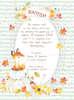Προσκλητήριο βάπτισης με θέμα φθινοπωρινό και αλεπού