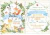 Προσκλητήριο βάπτισης για αγόρια με θέμα ζωάκια του δάσους