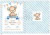 Προσκλητήριο βάπτισης για αγόρια με θέμα το αρκουδάκι