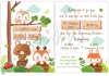 Προσκλητήριο βάπτισης για αγόρια με θέμα ζωάκια μωρά