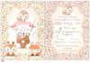 Προσκλητήριο βάπτισης για κορίτσια με θέμα ζωάκια μωρά