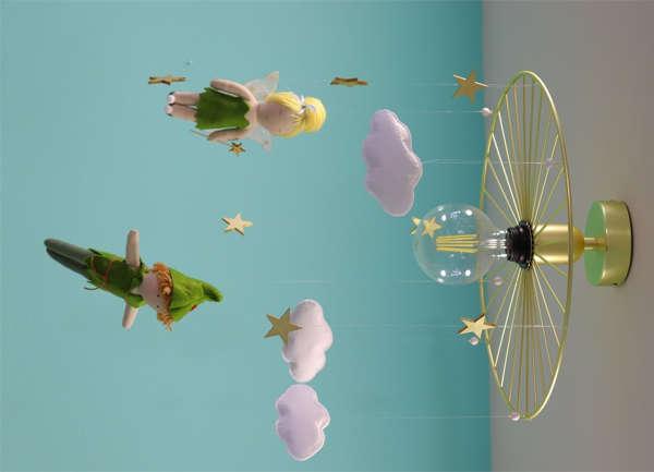 Εικόνα με Φωτιστικό οροφής peter pan και tinkerbell