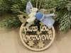 """Εικόνα με Στολίδι """"Τα πρώτα μου Χριστούγεννα"""" για αγόρι"""