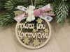 """Εικόνα με Στολίδι """"Τα πρώτα μου Χριστούγεννα"""" για κορίτσι"""